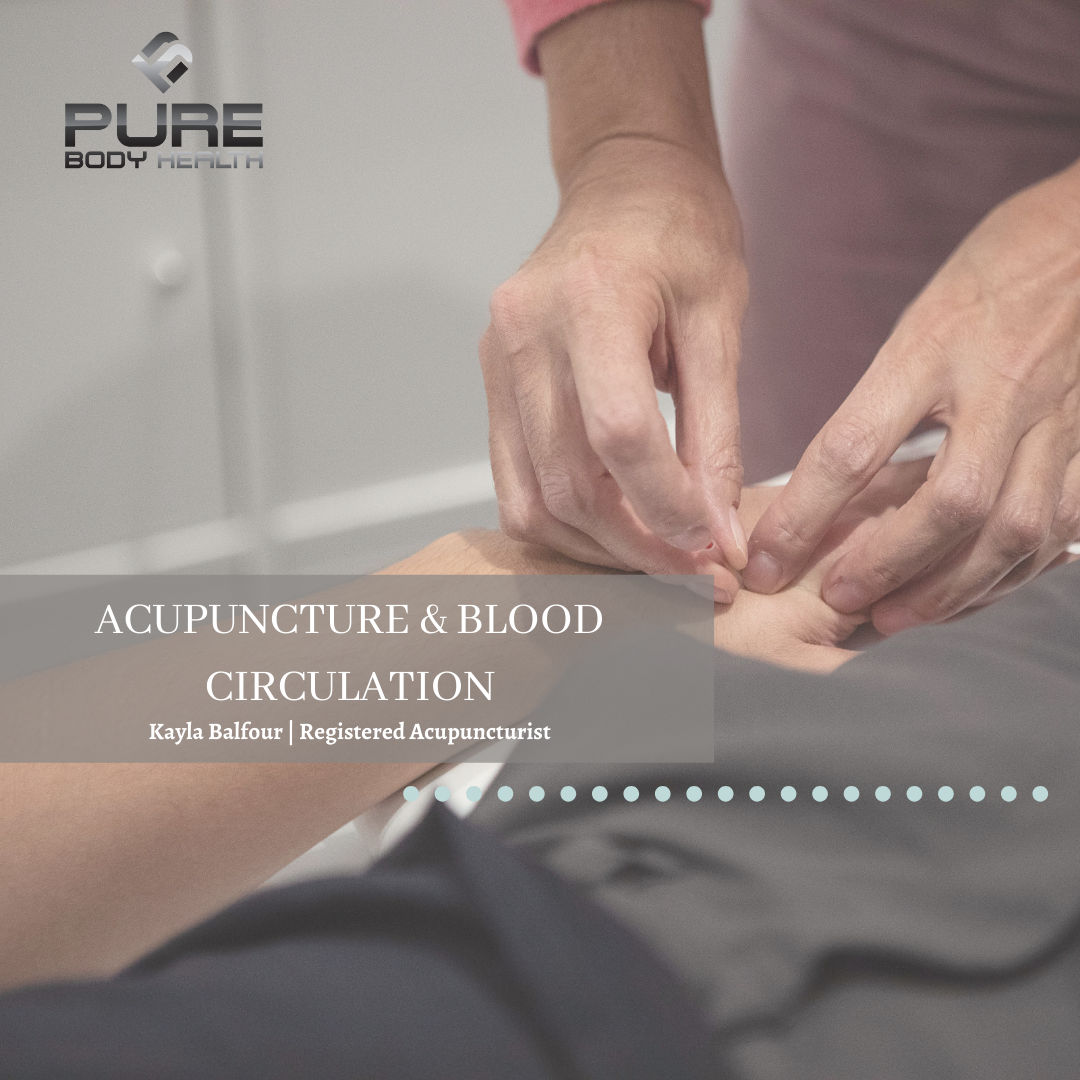 Acupuncture and blood circulation card