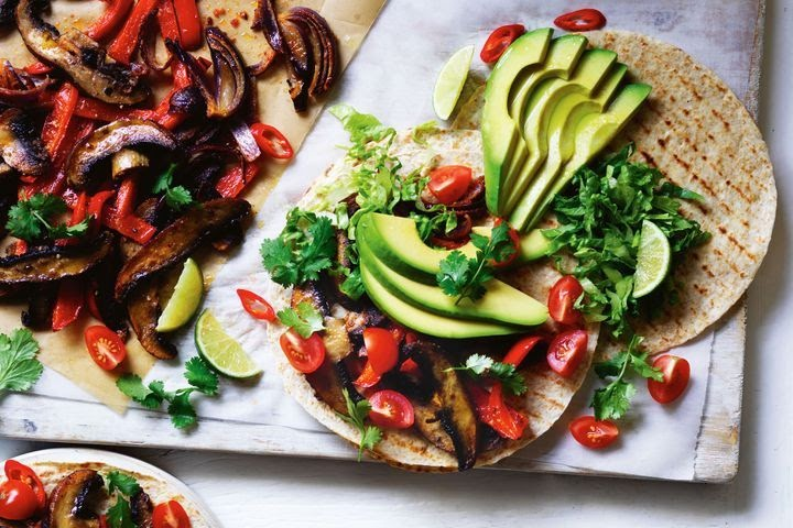 Avocado and Mushroom Tacos